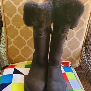 Ugg Genevieve Tall Boots with back leather bow